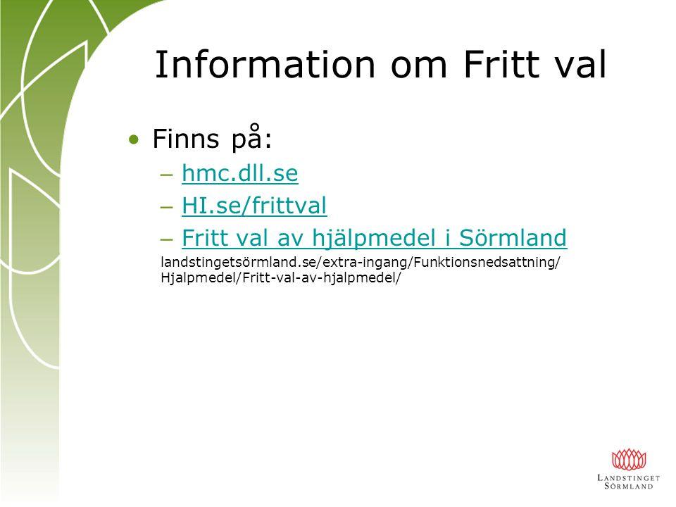 Information om Fritt val