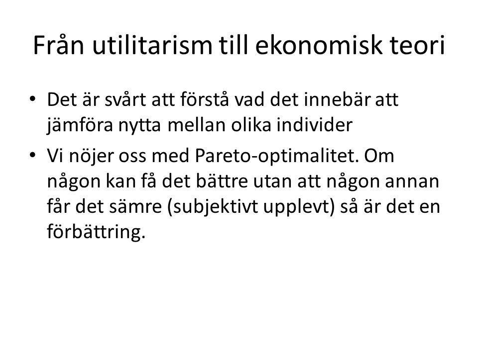 Från utilitarism till ekonomisk teori