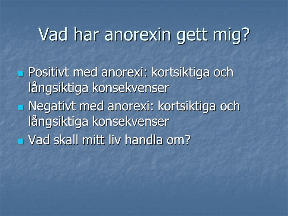 Vad har anorexin gett mig