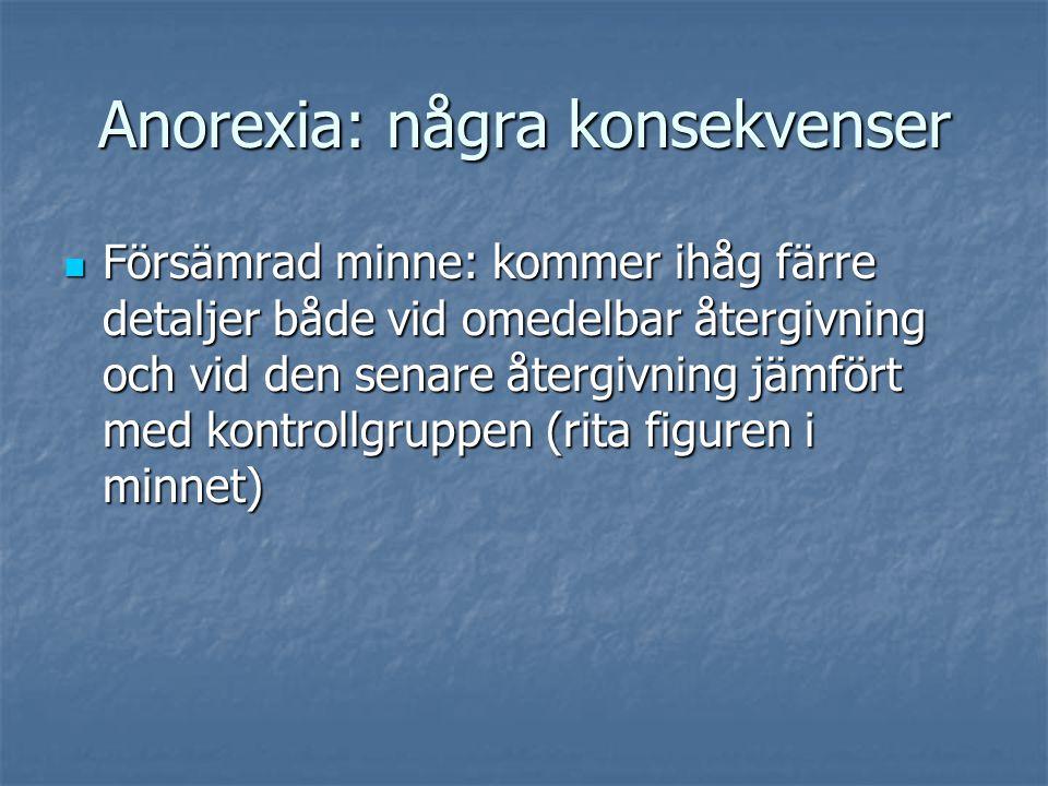 Anorexia: några konsekvenser