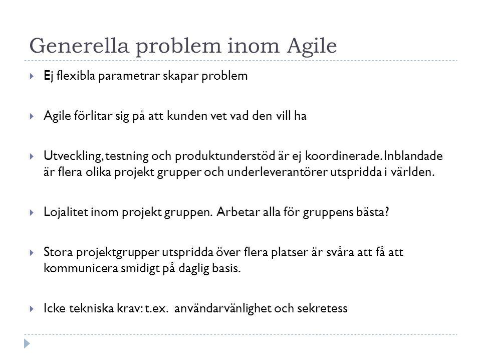 Generella problem inom Agile
