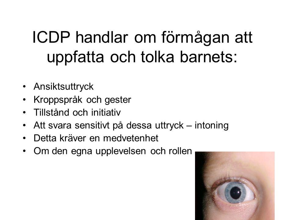 ICDP handlar om förmågan att uppfatta och tolka barnets: