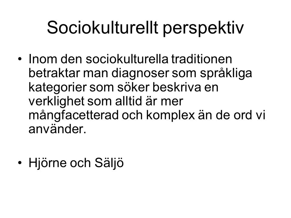 Sociokulturellt perspektiv