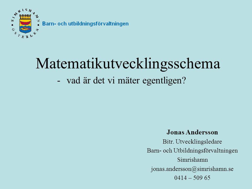 Matematikutvecklingsschema