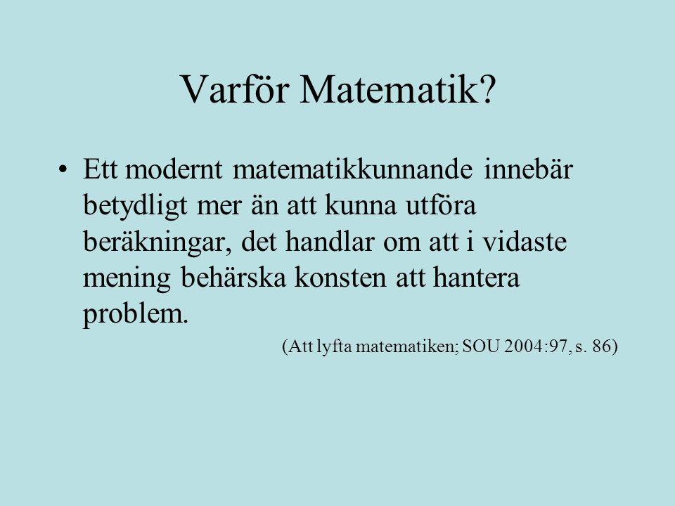 Varför Matematik