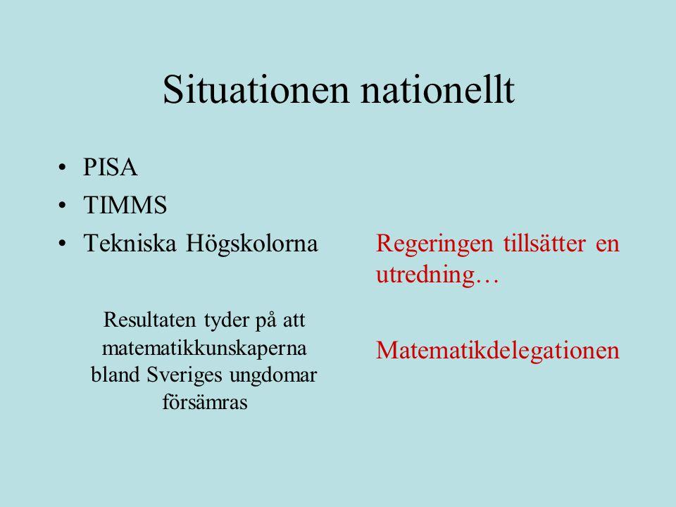 Situationen nationellt
