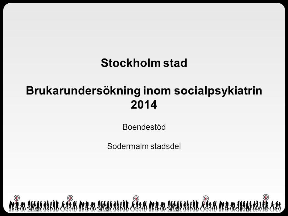 Stockholm stad Brukarundersökning inom socialpsykiatrin 2014