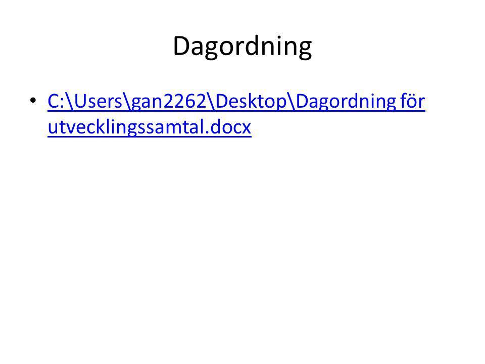 Dagordning C:\Users\gan2262\Desktop\Dagordning för utvecklingssamtal.docx