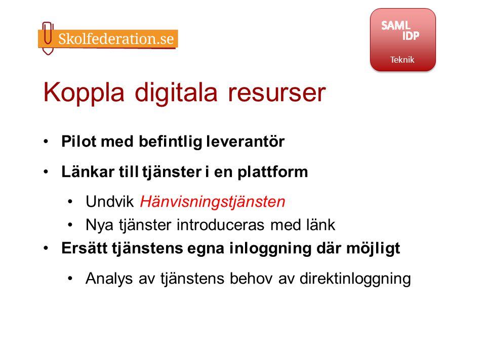 Koppla digitala resurser