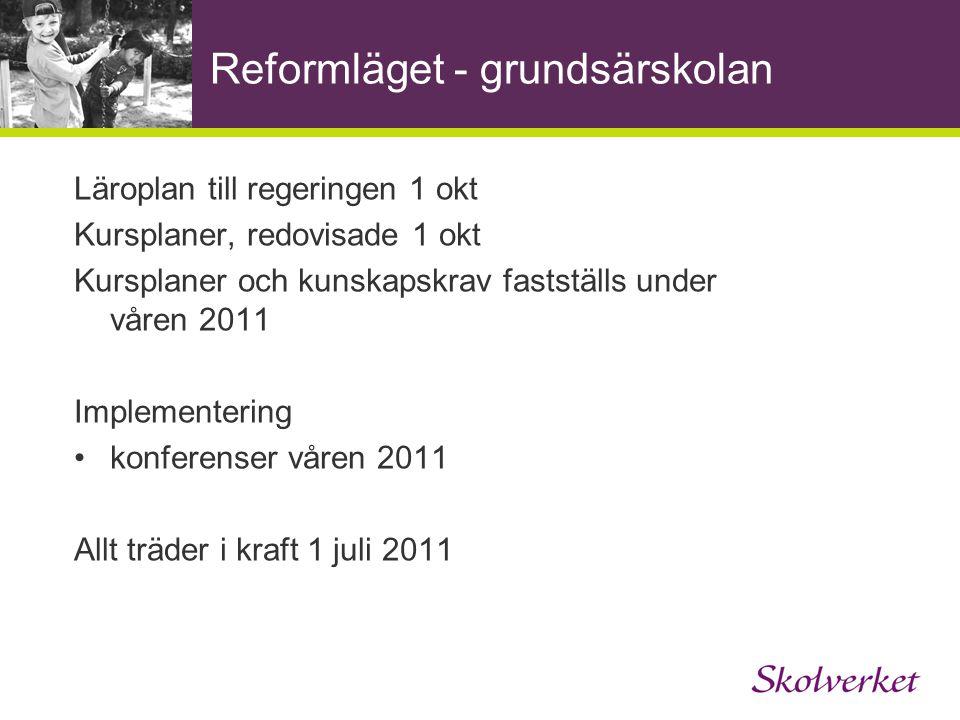 Reformläget - grundsärskolan