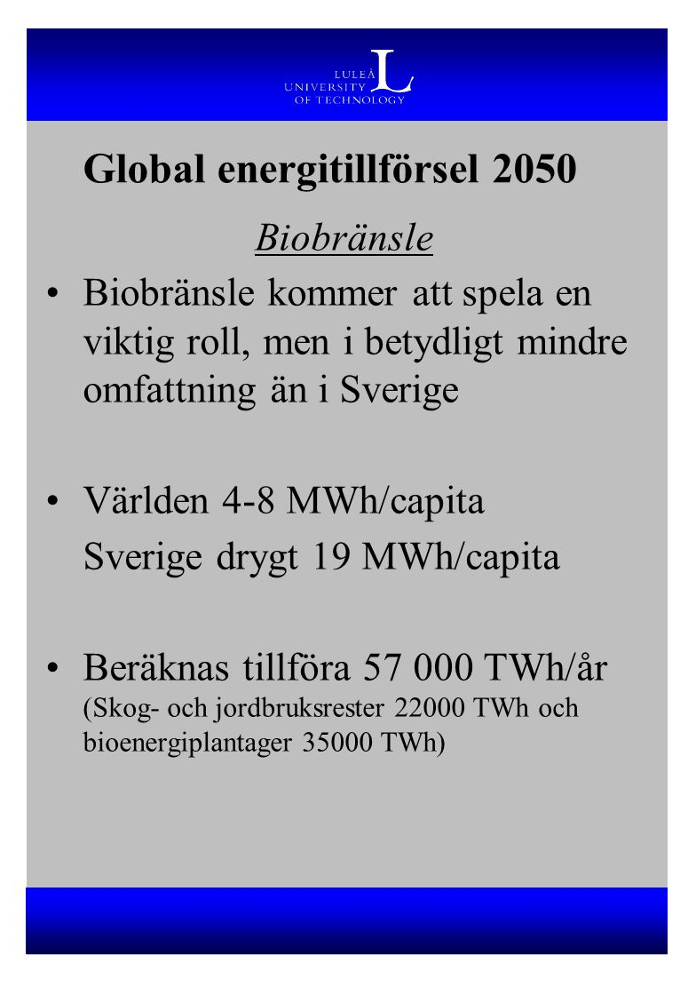 Global energitillförsel 2050