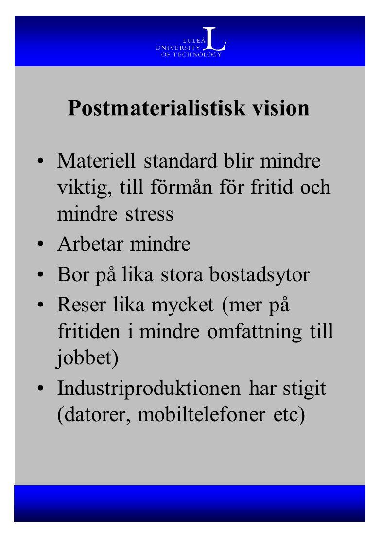 Postmaterialistisk vision