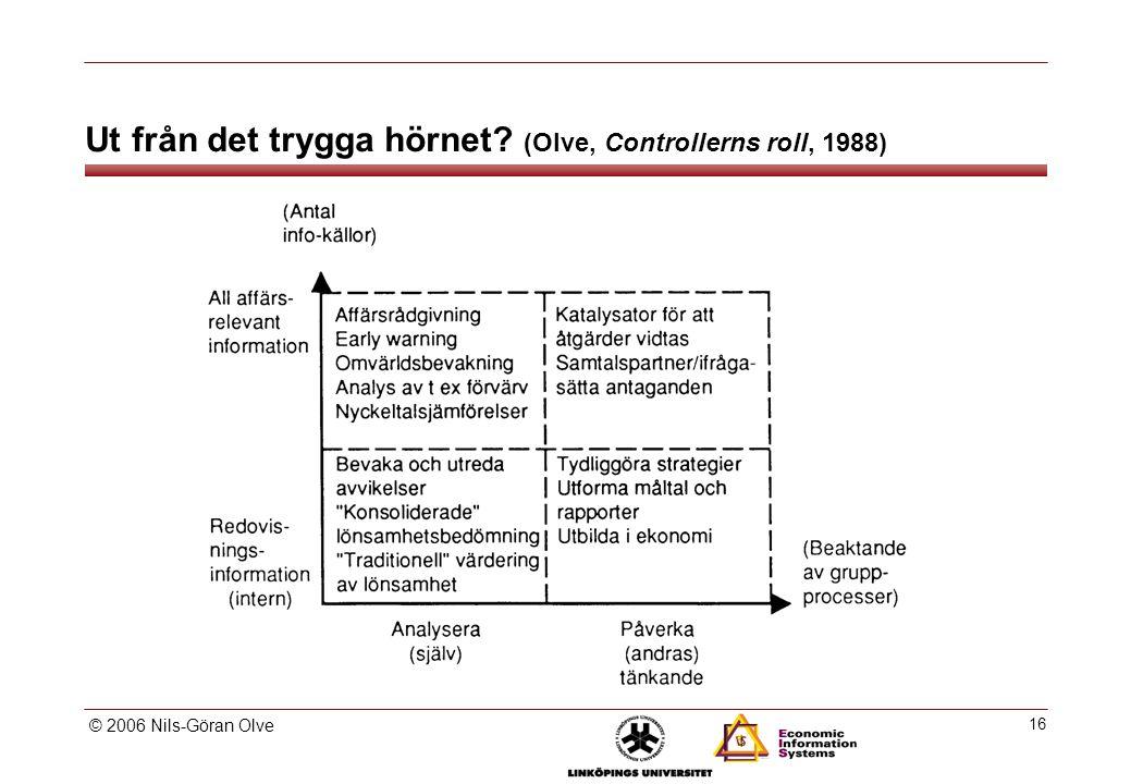 Controllerns roll och andra ekonomroller (Olve, Controllerns roll, 1988)
