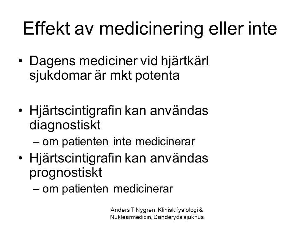 Effekt av medicinering eller inte