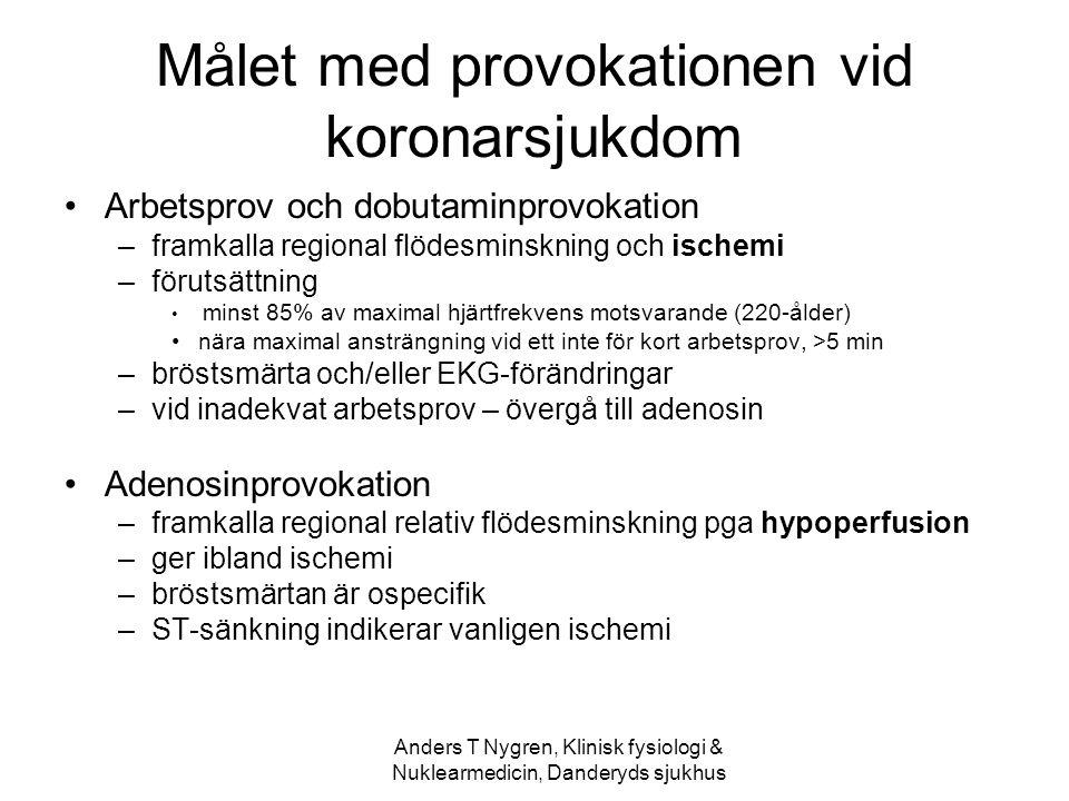 Målet med provokationen vid koronarsjukdom