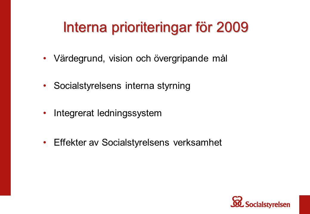Interna prioriteringar för 2009