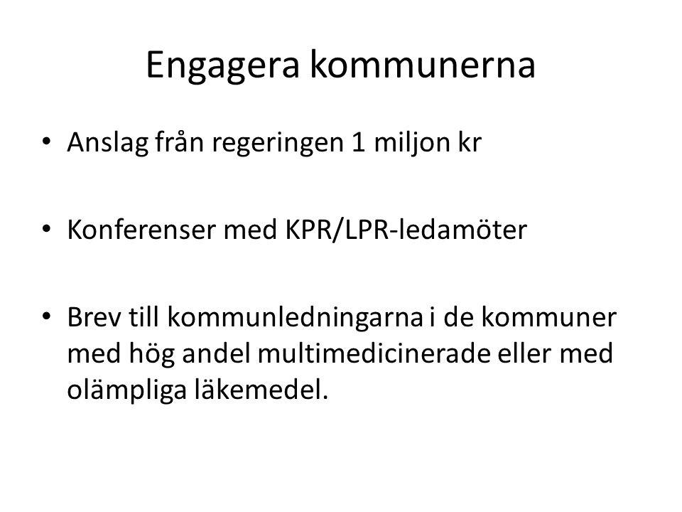 Engagera kommunerna Anslag från regeringen 1 miljon kr