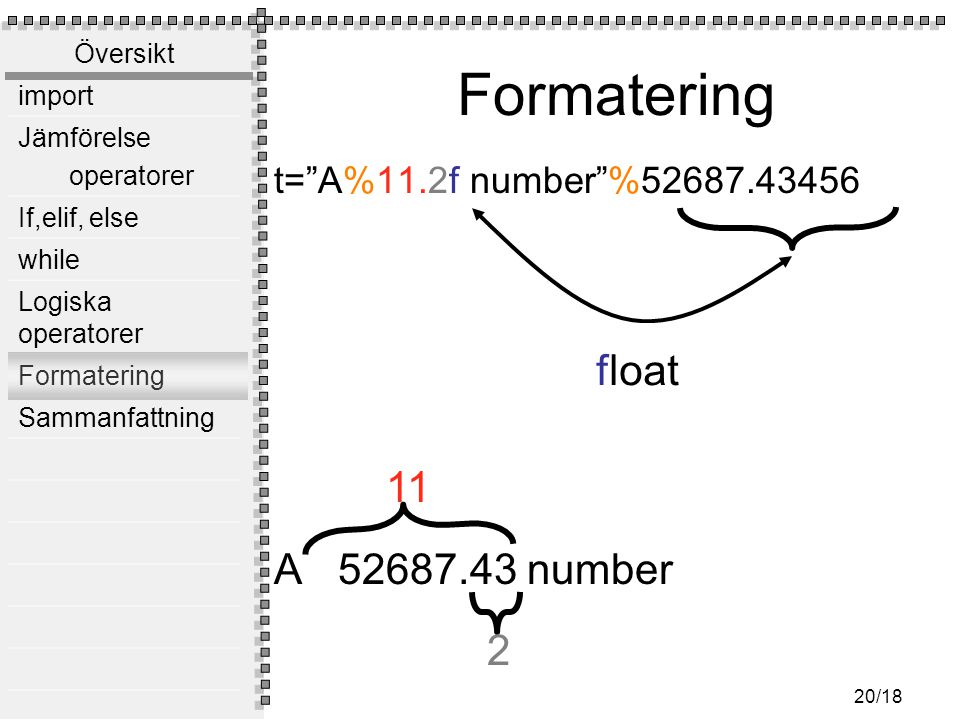 Formatering A 52687.43 number float 11 2