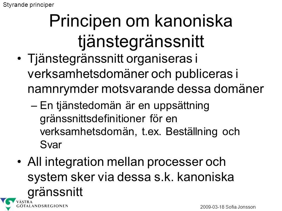 Principen om kanoniska tjänstegränssnitt