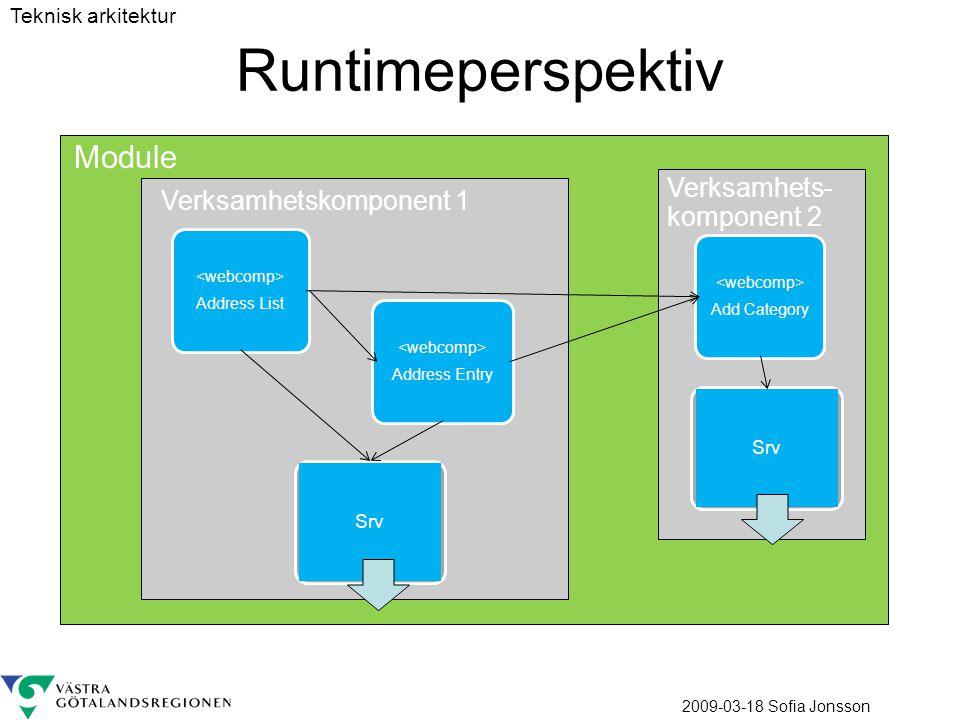 Runtimeperspektiv Module Verksamhets-komponent 2
