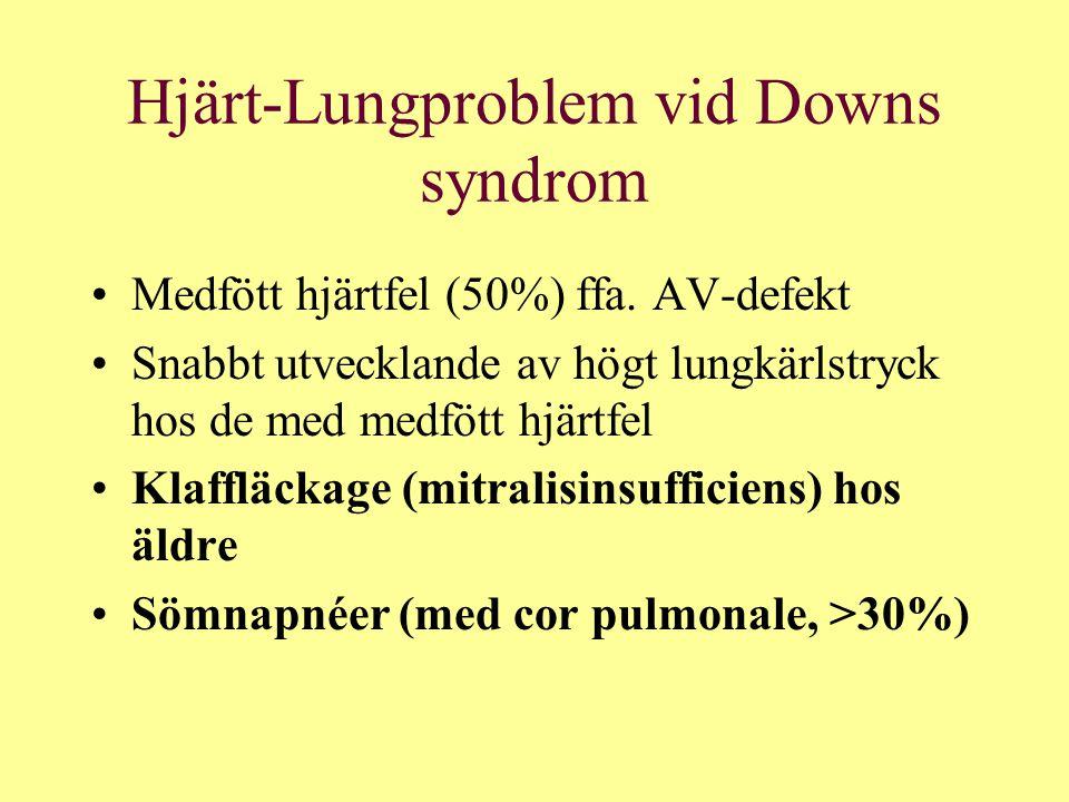 Hjärt-Lungproblem vid Downs syndrom