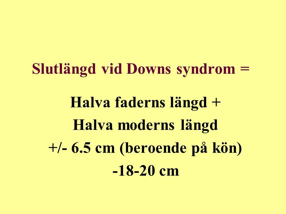 Slutlängd vid Downs syndrom =
