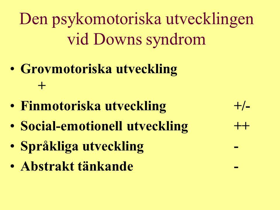 Den psykomotoriska utvecklingen vid Downs syndrom