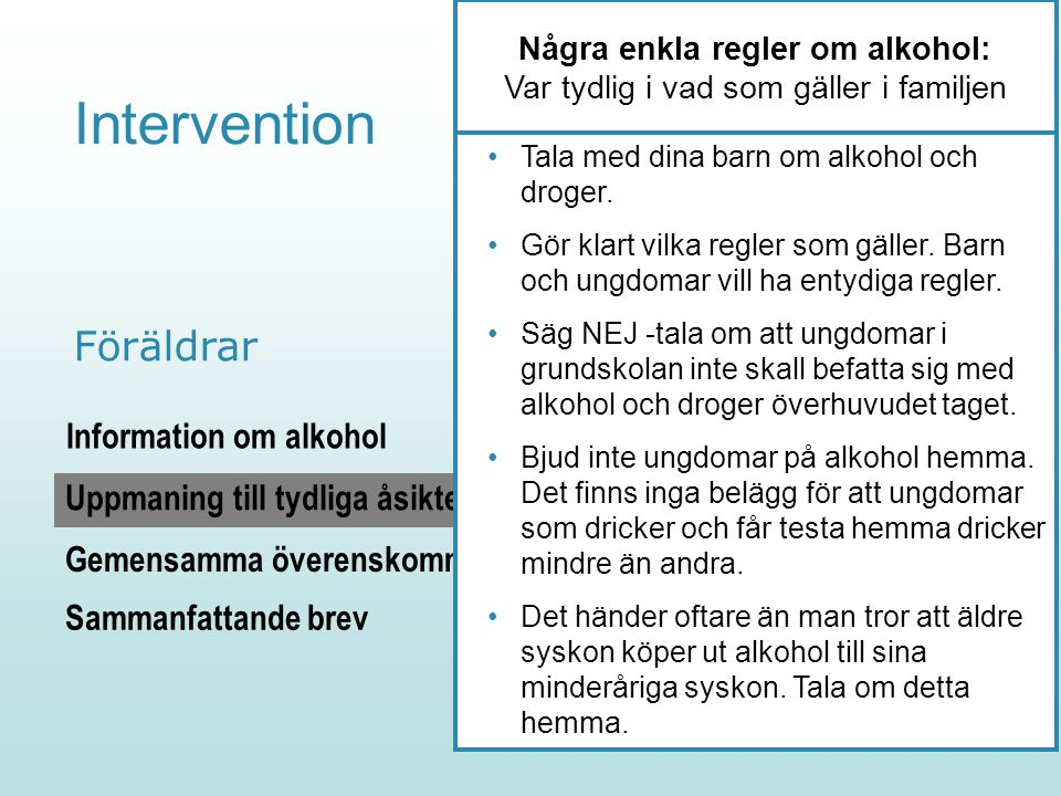 Några enkla regler om alkohol: Var tydlig i vad som gäller i familjen