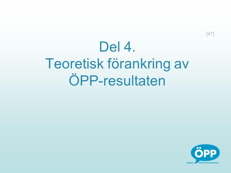Del 4. Teoretisk förankring av ÖPP-resultaten