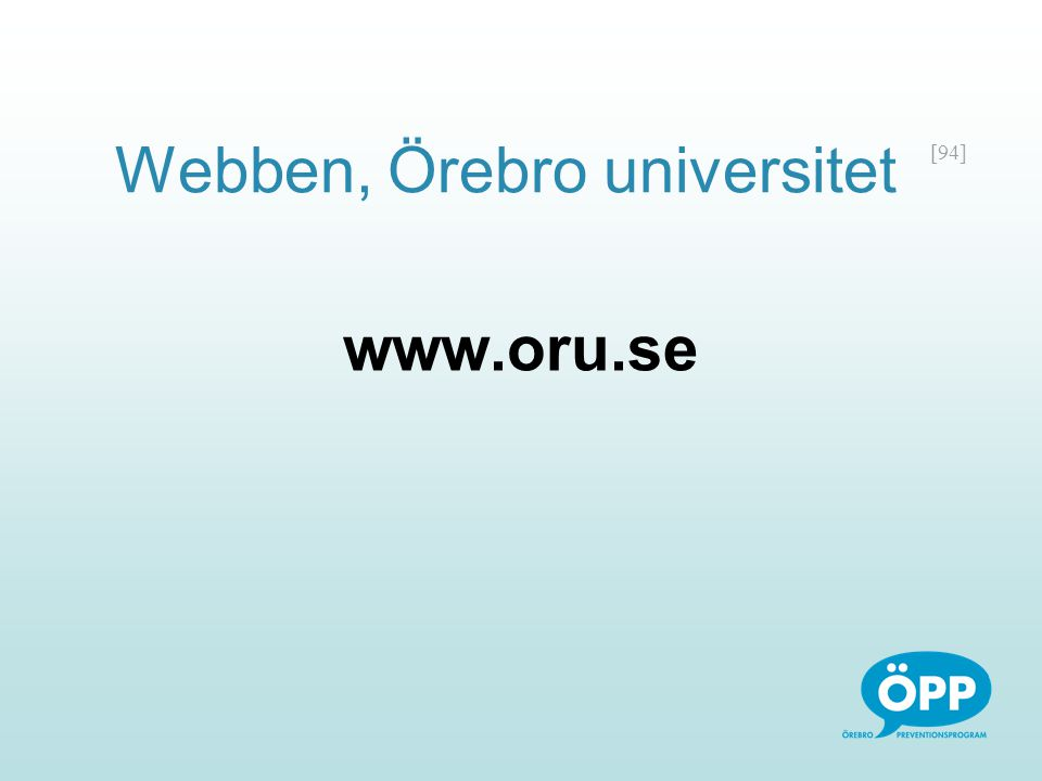 Webben, Örebro universitet