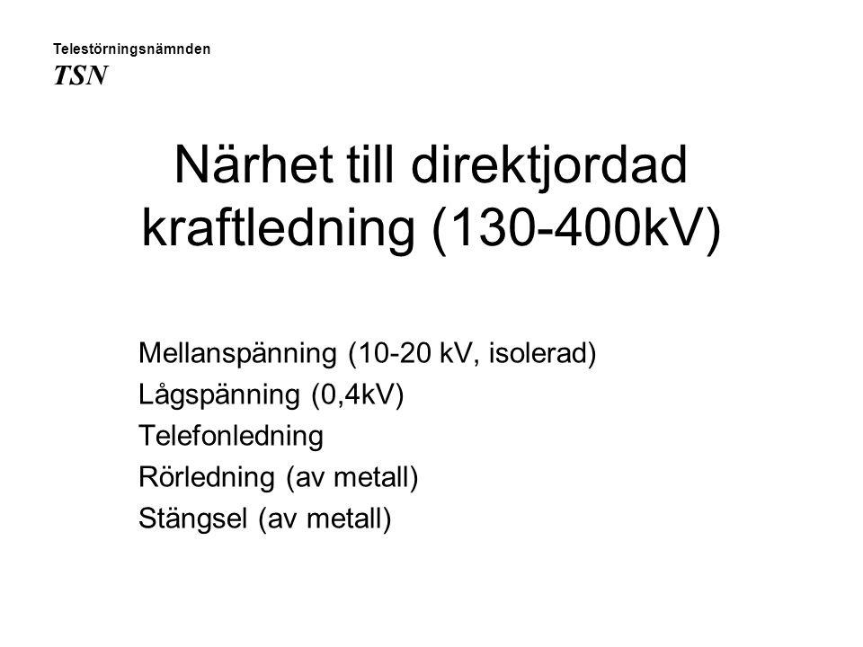 Närhet till direktjordad kraftledning (130-400kV)
