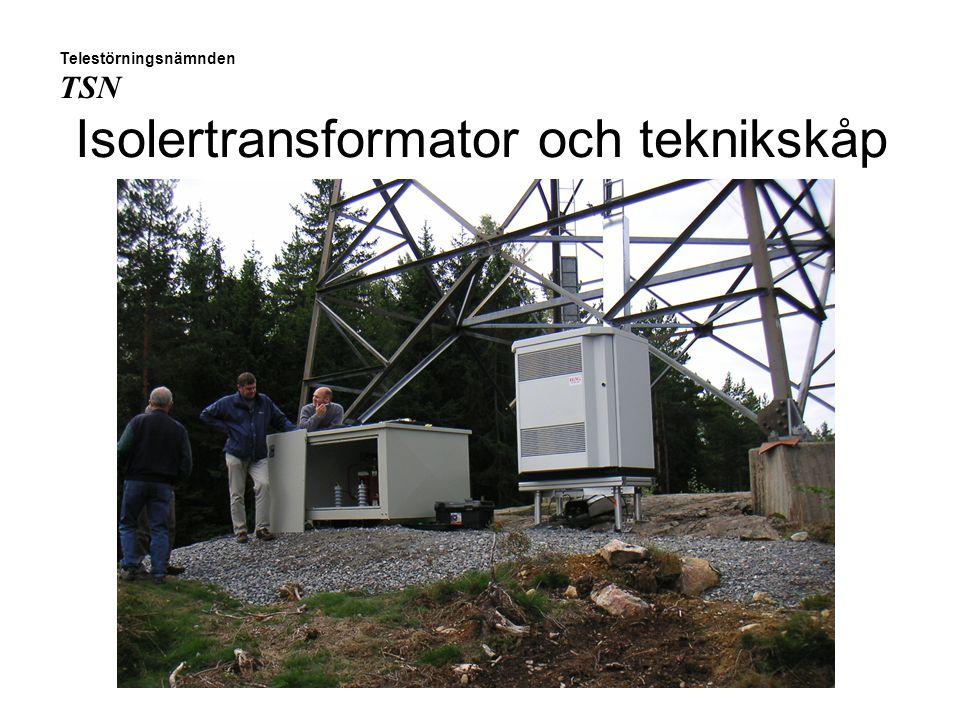 Isolertransformator och teknikskåp