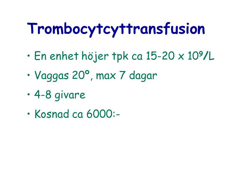 Trombocytcyttransfusion