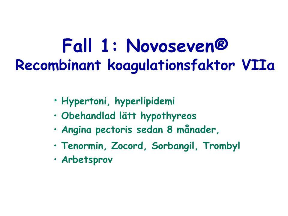 Recombinant koagulationsfaktor VIIa