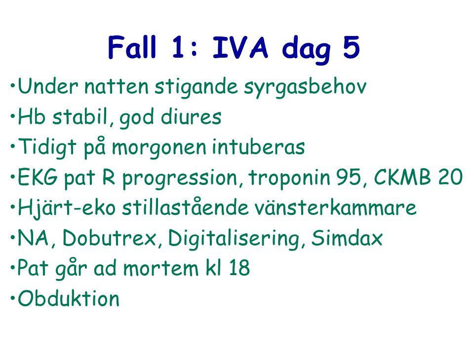 Fall 1: IVA dag 5 Under natten stigande syrgasbehov