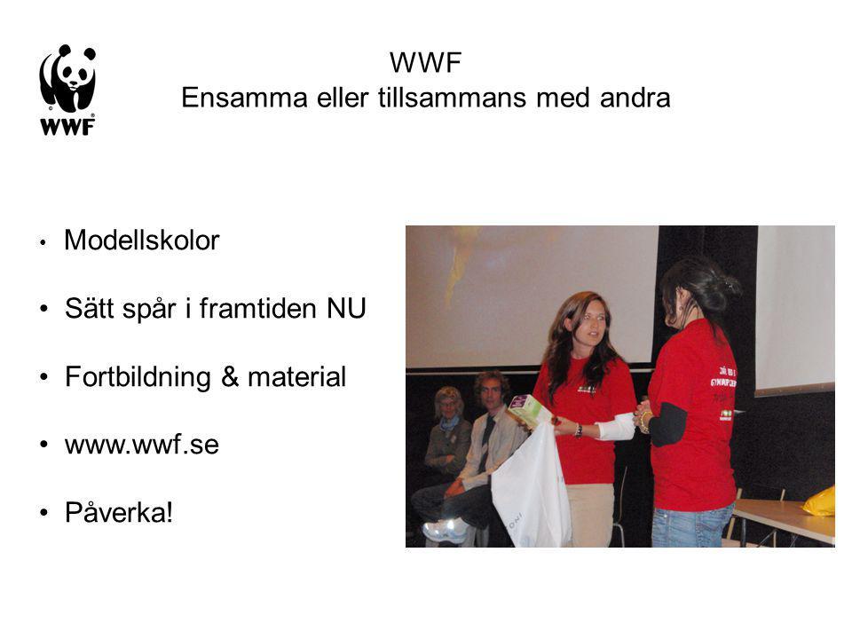 WWF Ensamma eller tillsammans med andra