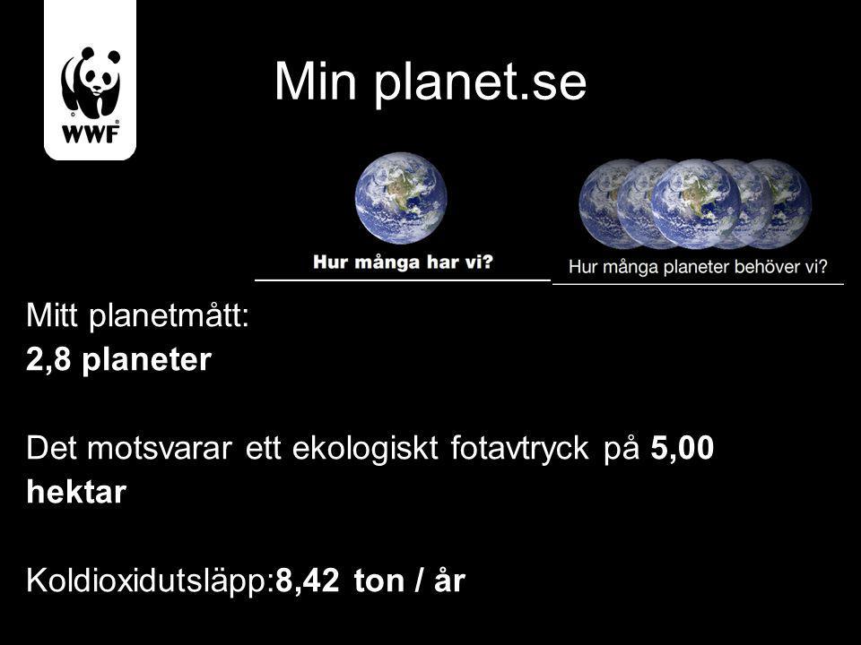 Min planet.se Mitt planetmått: 2,8 planeter