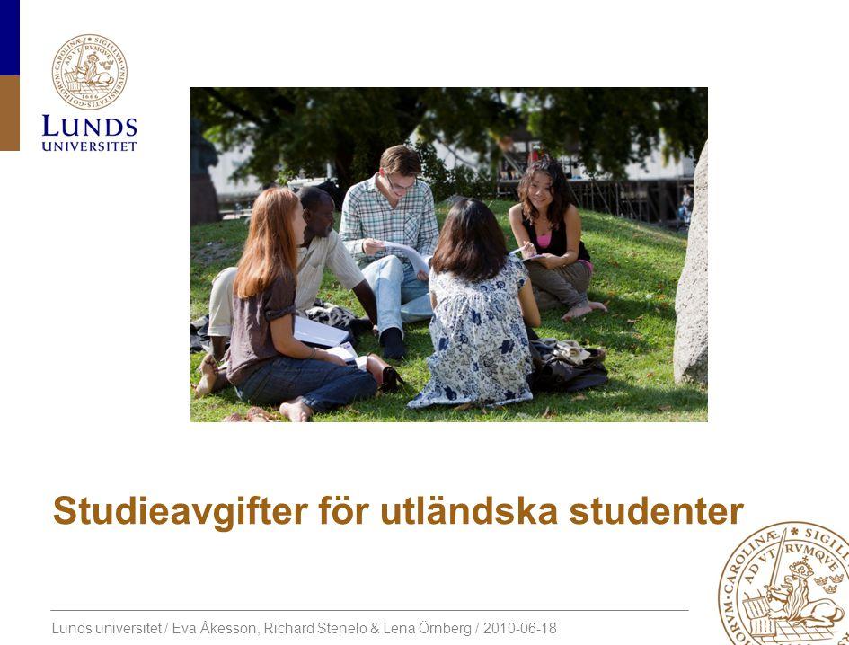 Studieavgifter för utländska studenter