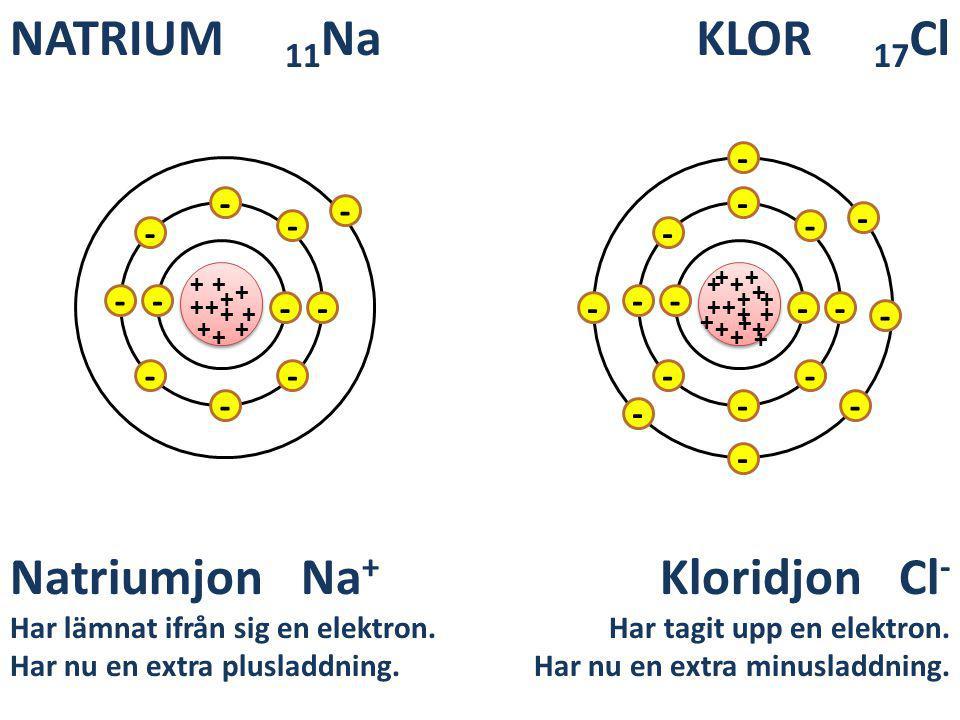 NATRIUM 11Na KLOR 17Cl Natriumjon Na+