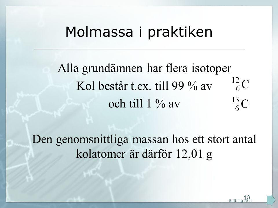 Alla grundämnen har flera isotoper