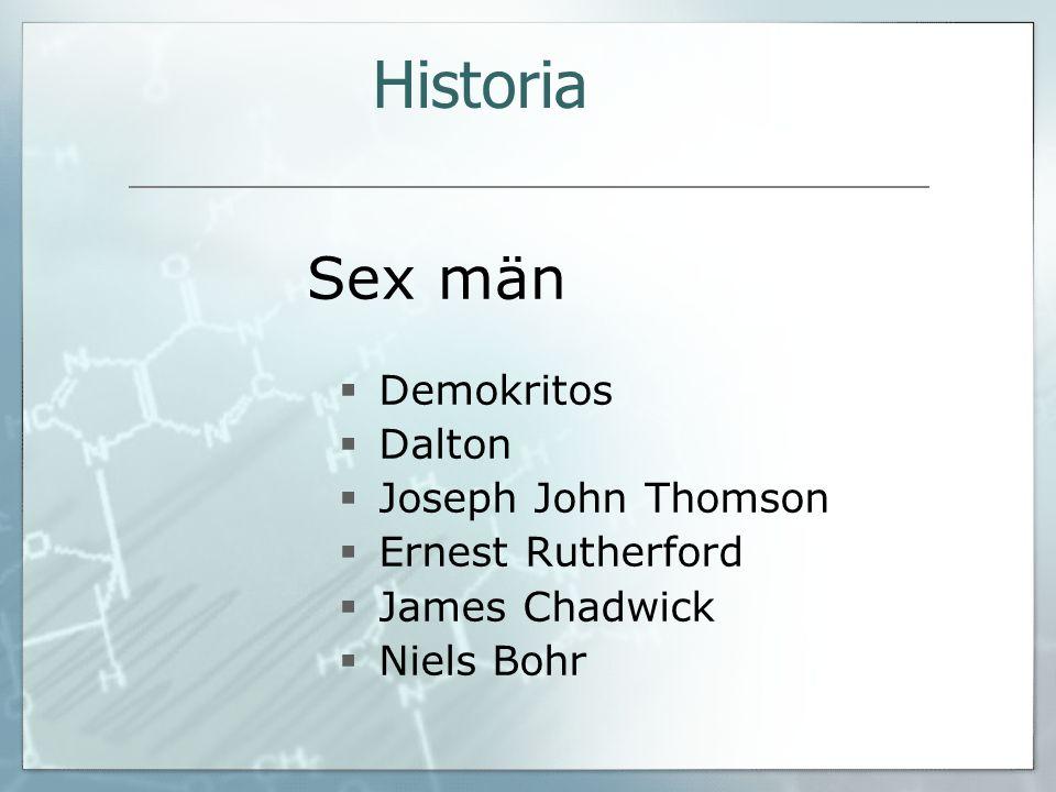 Historia Sex män Demokritos Dalton Joseph John Thomson