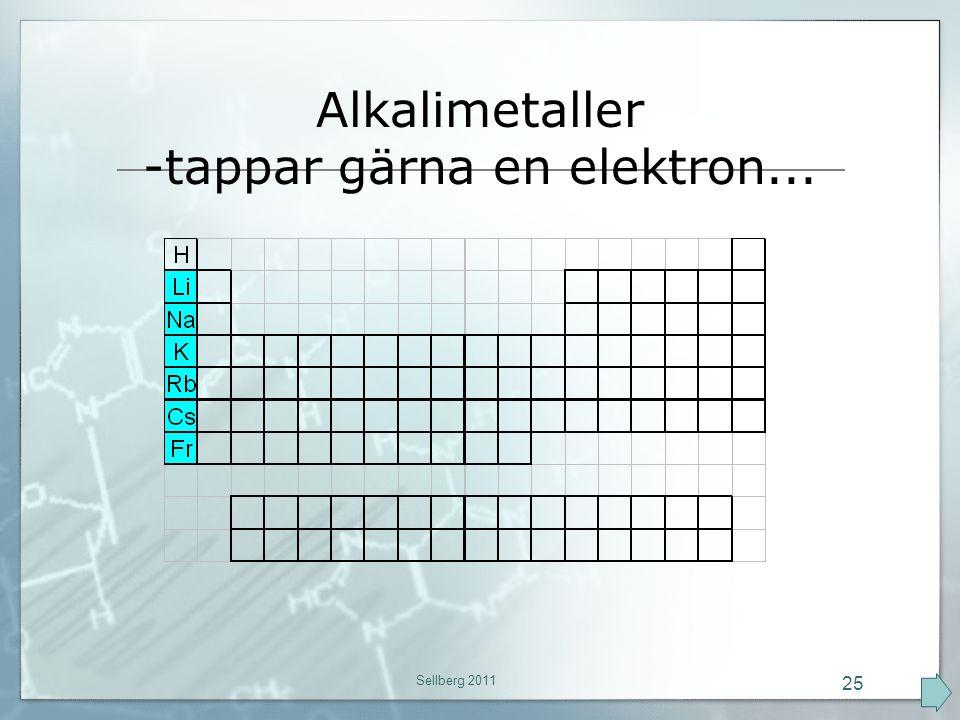 -tappar gärna en elektron...