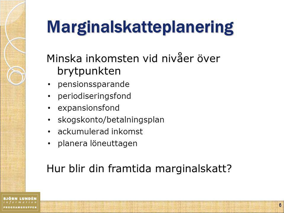 Marginalskatteplanering