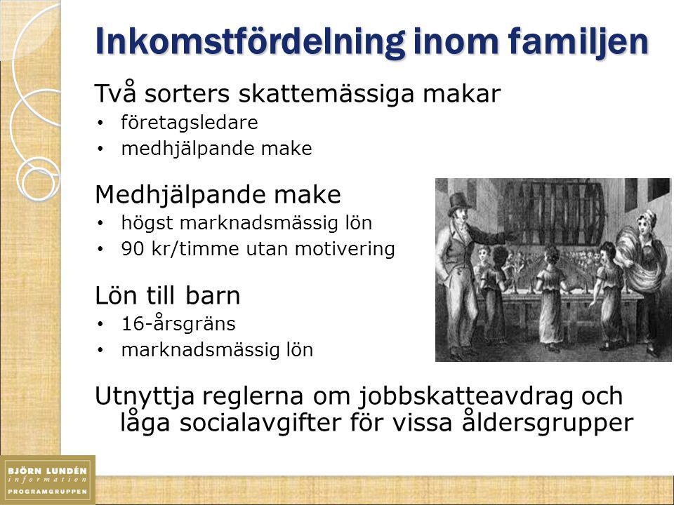 Inkomstfördelning inom familjen