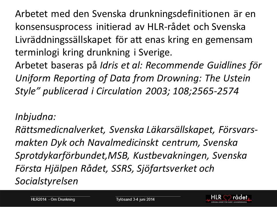 Arbetet med den Svenska drunkningsdefinitionen är en konsensusprocess initierad av HLR-rådet och Svenska Livräddningssällskapet för att enas kring en gemensam terminlogi kring drunkning i Sverige.