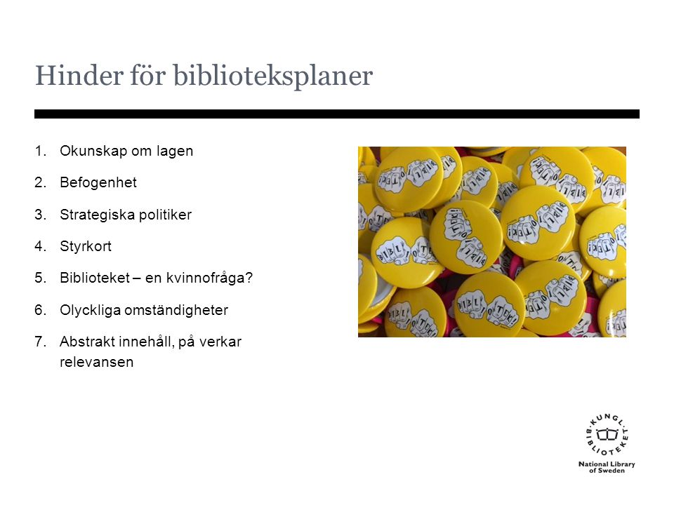 Hinder för biblioteksplaner