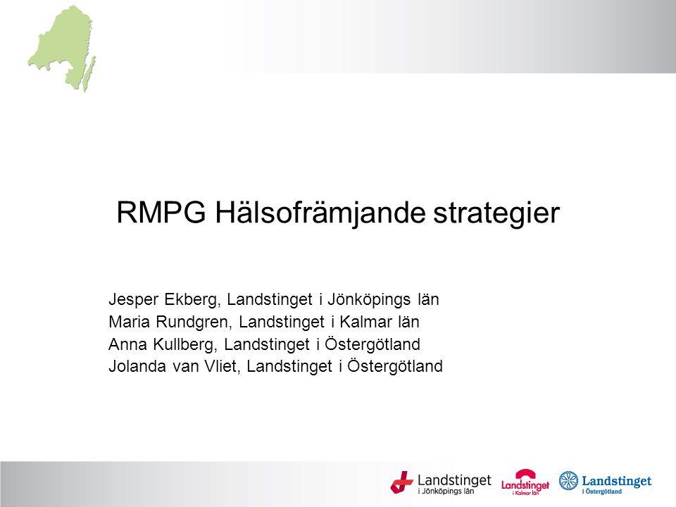 RMPG Hälsofrämjande strategier