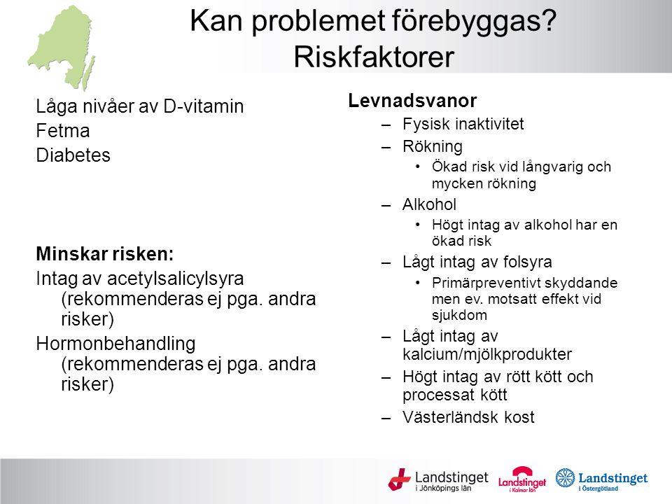 Kan problemet förebyggas Riskfaktorer