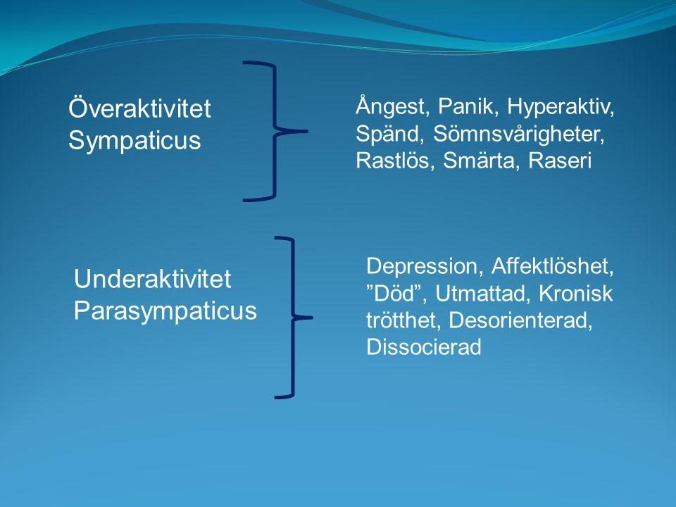 Överaktivitet Sympaticus Underaktivitet Parasympaticus