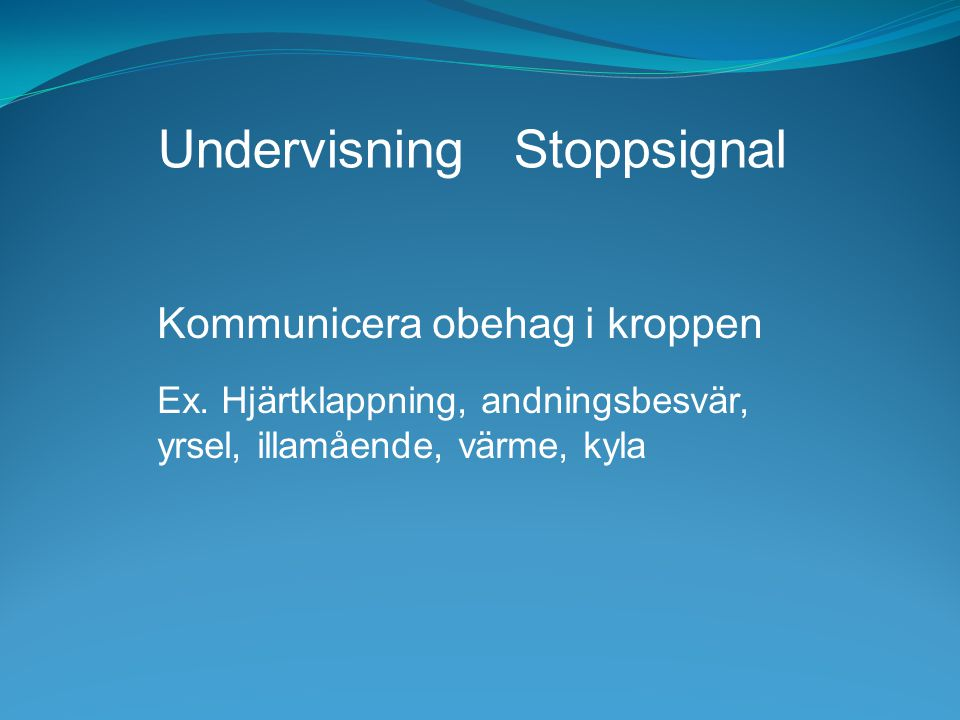 Undervisning Stoppsignal